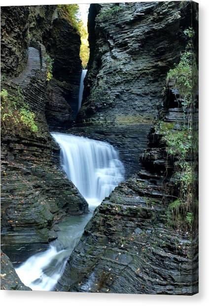 Three Falls In Watkins Glen Canvas Print