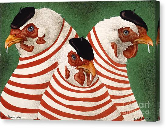 Three French Hens... Canvas Print