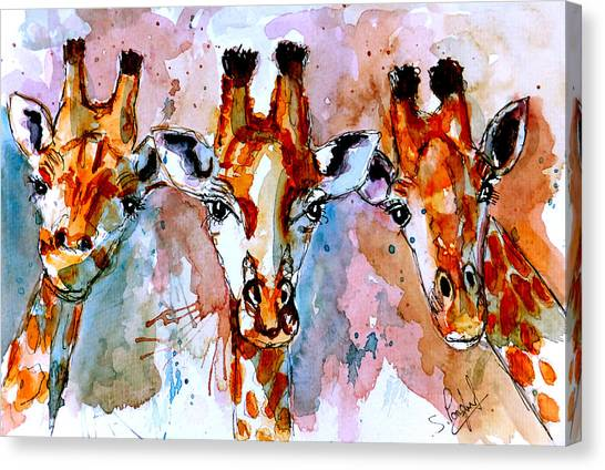 Winter Scenery Canvas Print - Three Friends by Steven Ponsford