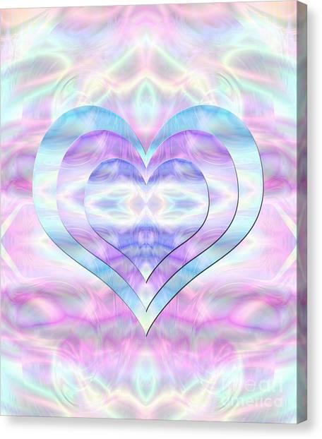 Three Hearts As One Canvas Print