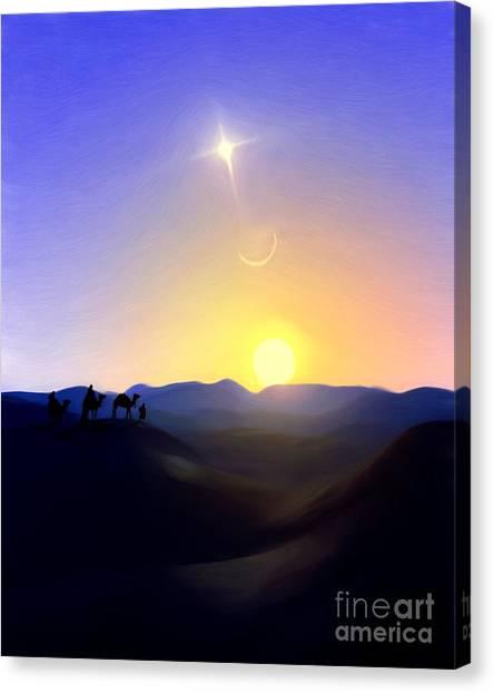 Three Kings Comet Canvas Print