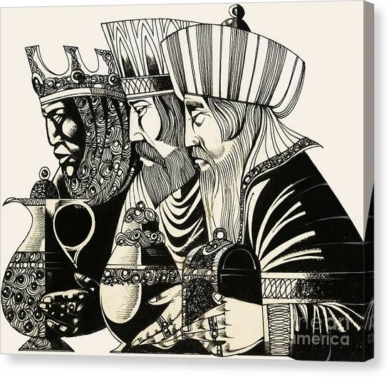 Stories Canvas Print - Three Kings by Richard Hook