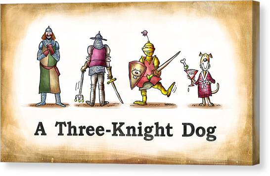 Three Knight Dog Canvas Print