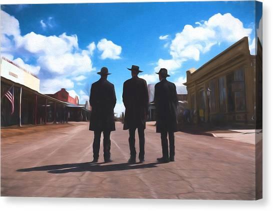 Three Lawmen Canvas Print