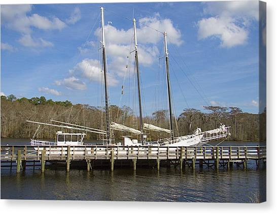 Three Mast Sailboat Canvas Print
