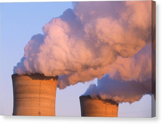Nuclear Plants Canvas Print - Three Mile Island by Jeffrey Lepore