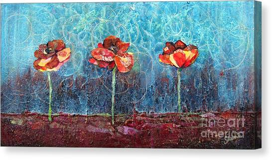 Limes Canvas Print - Three Poppies by Shadia Derbyshire