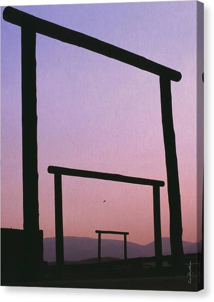 Three Ranch Gates Canvas Print