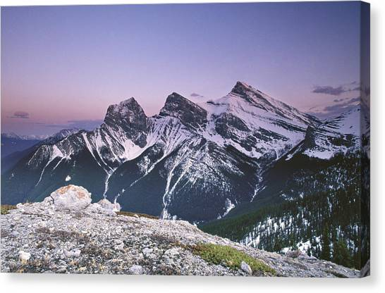 Three Sisters At Twilight Canvas Print by Richard Berry