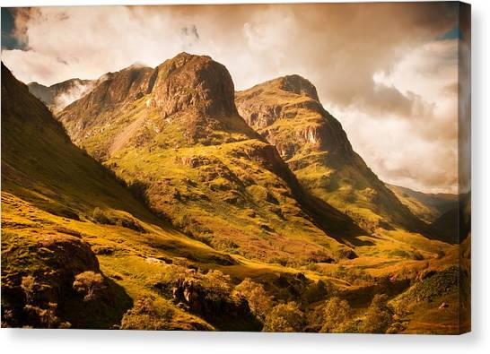 Three Sisters. Glencoe. Scotland Canvas Print