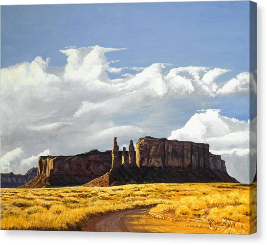 Three Sisters Monument Valley Canvas Print