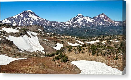 Three Sisters Panorama Canvas Print