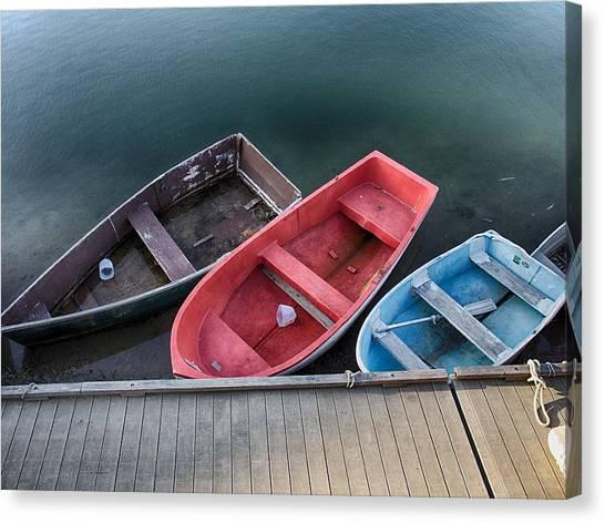 Three Skiffs Canvas Print