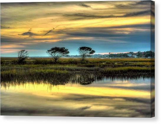 Three Tree Sunset Canvas Print