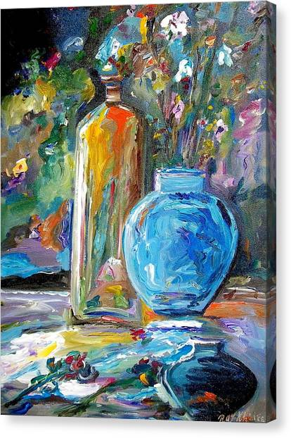 Three Vases Canvas Print