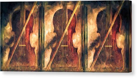 Fiddle Canvas Print - Three Violins by Bob Orsillo