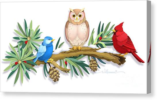 Three Watchful Friends Canvas Print