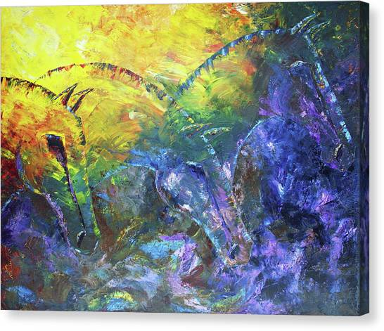 Three Whispers Canvas Print