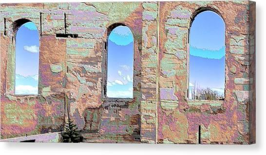 Three Windows Canvas Print