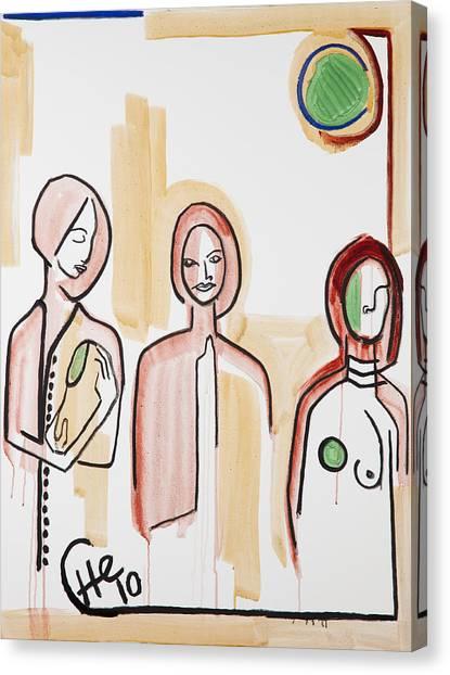 Three Women 40x30 Canvas Print