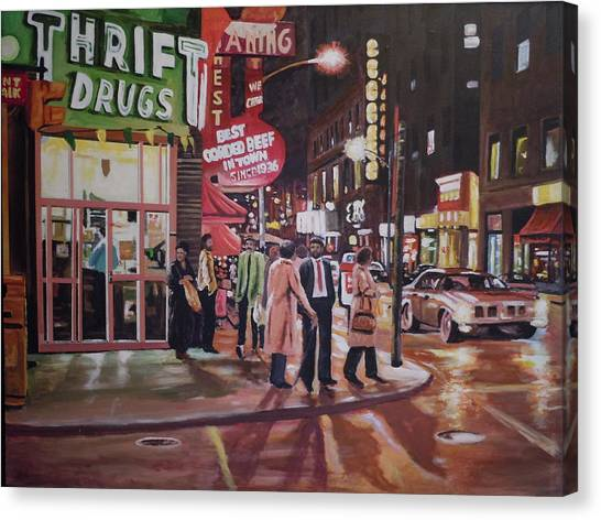 Thrift Drugs Canvas Print