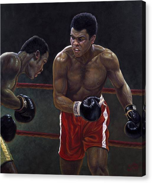 Knockout Canvas Print - Thrilla In Manilla by Gregory Perillo