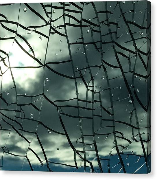 Through Broken Glass Canvas Print