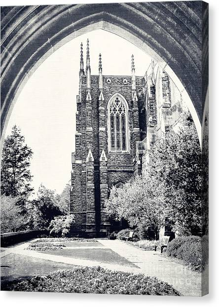 Acc Canvas Print - Through The Arch In Black And White by Emily Kay