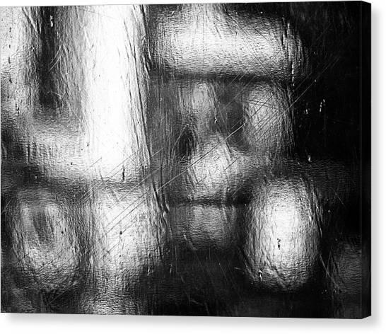Through The Curtain  Canvas Print