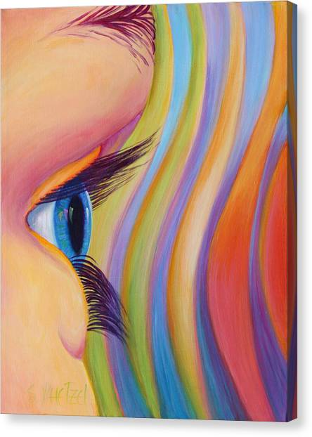 Canvas Print featuring the painting Through The Eyes Of A Child by Sandi Whetzel
