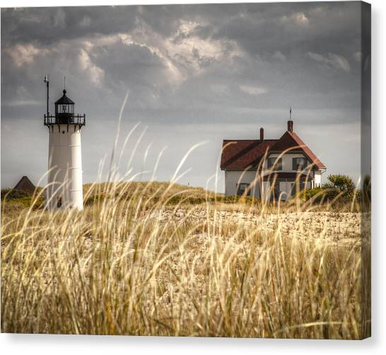 Race Point Light Through The Grass Canvas Print