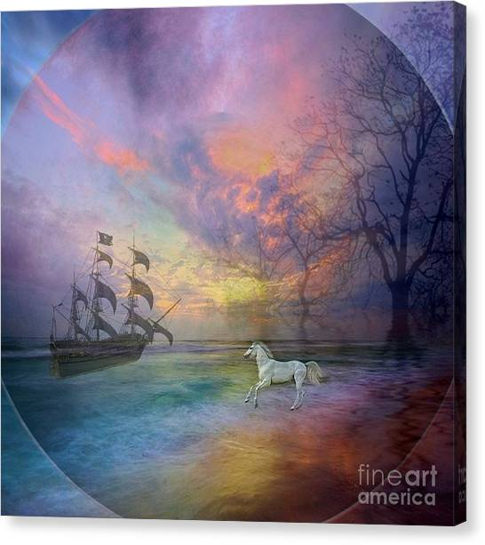 Through The Lense Of Past Canvas Print