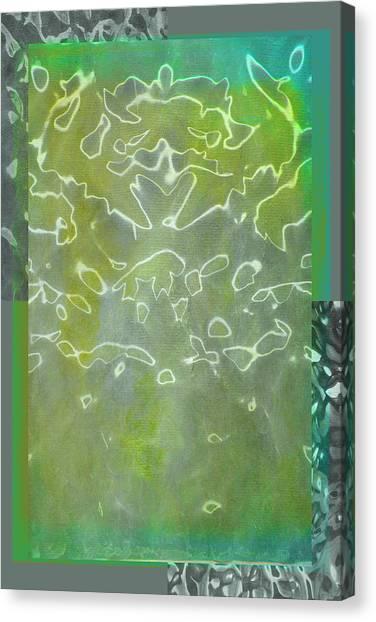 Frank Stella Canvas Print - Through The Looking Glass by Linda Dunn