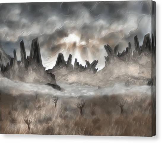 Sun Belt Canvas Print - Through The Mist by Jack Zulli
