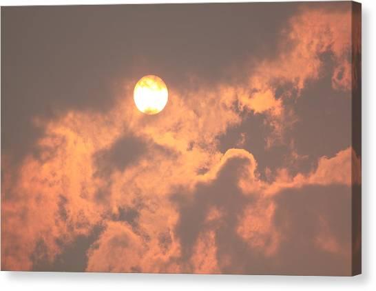 Through The Smoke Canvas Print