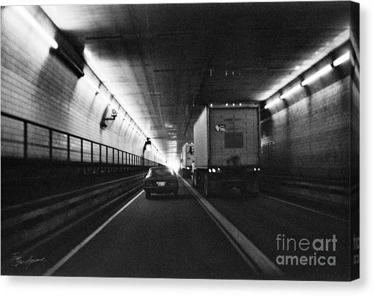 Through The Tunnel  Canvas Print
