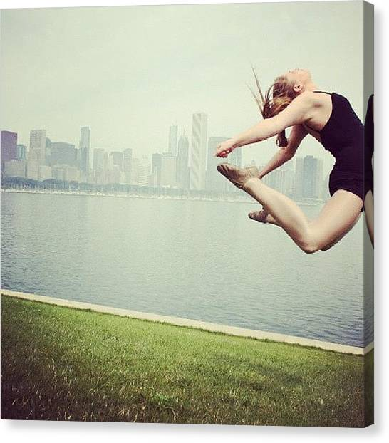 Tumbling Canvas Print - Throw Back. C-jump For My Dance by Marielle Sarkan