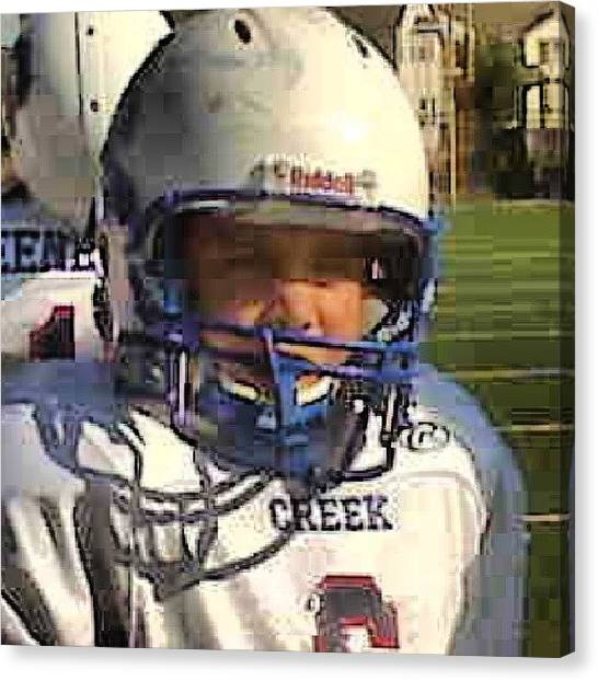 Linebackers Canvas Print - Throw Back To Creek Maroon Football! I by Anthony Click