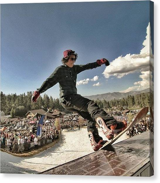 Snowboarding Canvas Print - Throwback To #hdhr #2011 At by Cameron Scott Nehrer