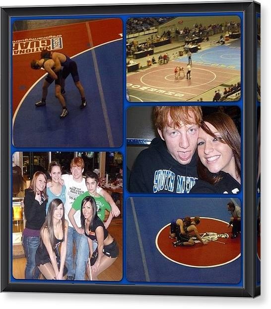 Wrestling Canvas Print - Throwback To The Bros State Days And by Sierra  Christopher