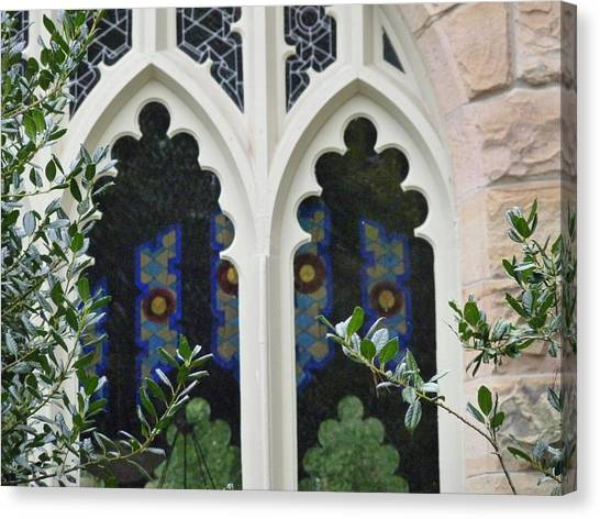 The University Of Tennessee Canvas Print - Thru The Sewanee Window by Ron Hayes