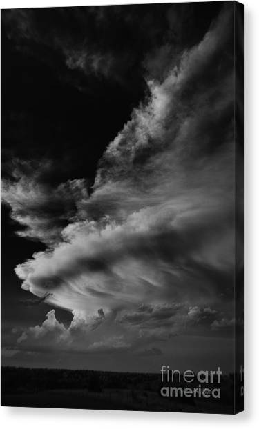 Thunderclouds Canvas Print - Thunder Cloud by Karen Slagle