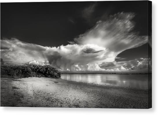 Tampa Bay Rays Canvas Print - Thunder Head Comming Bw by Marvin Spates