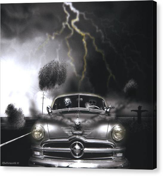 Thunder Road Canvas Print by Larry Butterworth