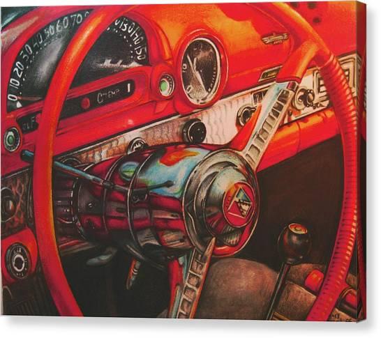 Thunderbird Red Canvas Print by Kathleen Bischoff