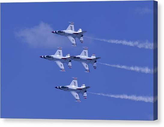 Thunderbirds Diamond Formation Topsides Canvas Print