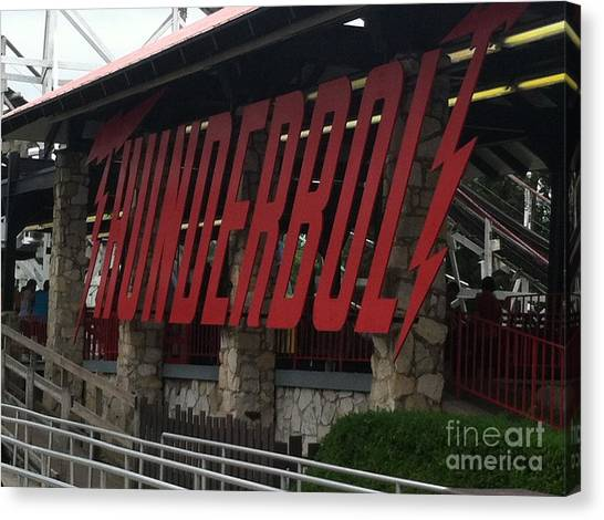 Thunderbolt Roller Coaster Canvas Print