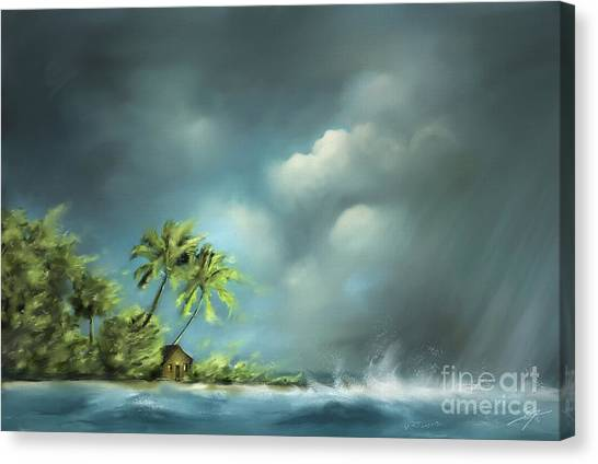Thunderstorm At Jupiter Beach Canvas Print