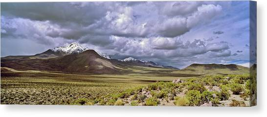Andes Mountains Canvas Print - Thunderstorm Clouds Over The Volcano by Martin Zwick