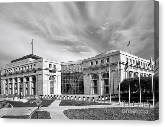 D.c. United Canvas Print - Thurgood Marshall Federal Judiciary Building by Olivier Le Queinec